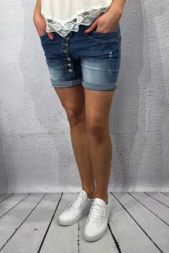 Jeansshorts long bottom fly