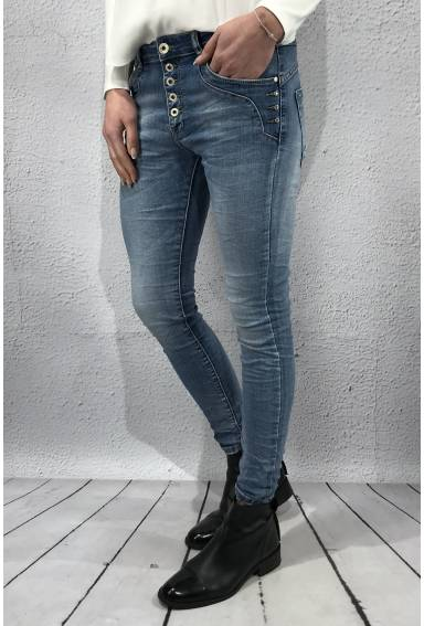 L 8074 Jeans Bling Ljus denim