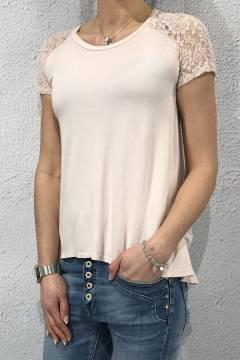 2171 T-shirt/Top spets Pink