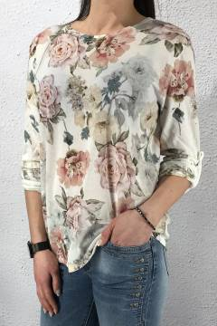 25050 Sweater knitted Roseprint