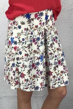 Cecilia circele skirt Flower/White