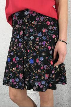 Cecilia circele skirt Flower/Black