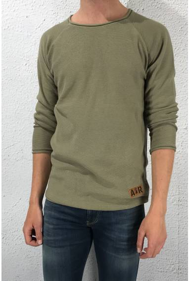 Isac knitted sweater Olive