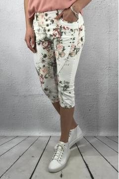 1858 Shorts 3/4 White/Flower