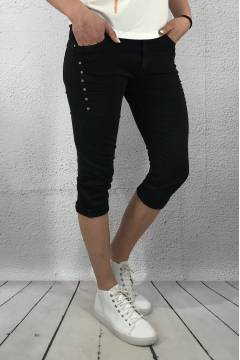 8017 Shorts 3/4 bling Black