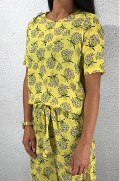 Erbi Top Yellow/Flower