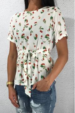 Lucy Top Creme/Red/Cherry