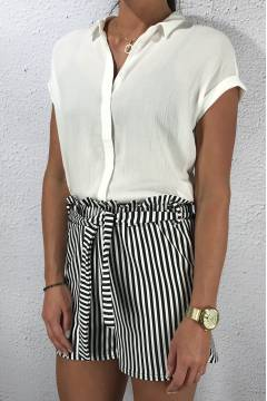 Blouse crinkled White