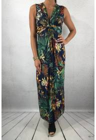 3044 Dress Flowerprint Blue