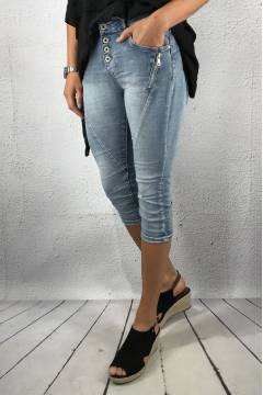 PC 18216 Shorts 3/4 zip Denim