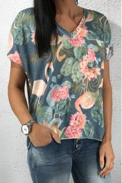 815 T-shirt Flamingo Blue
