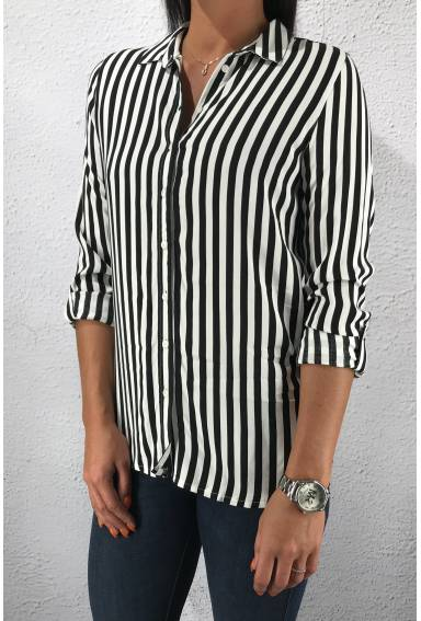 LDT QR Sia Blouse blockstripe Black/White