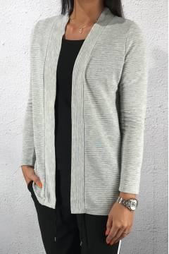 Cardigan structured Moon Grey