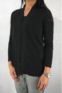 Cardigan structured Black
