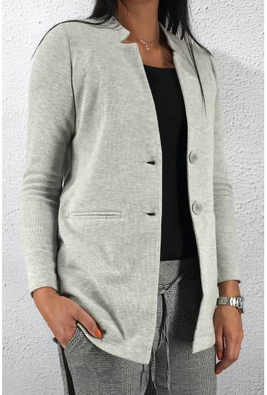 Long soft Blazer Moon Grey