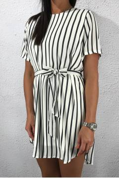 Lucy Dress Creme/Stripe