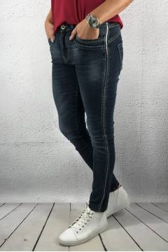 JW 5038 Jeans stripes rivets Denim