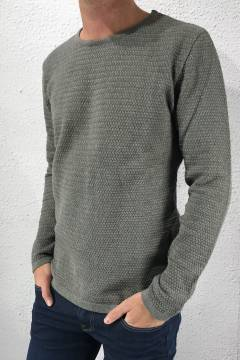 Aberdeen crew neck Dark Grey melange