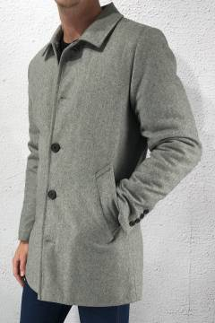 Halmstad Woll Jacket Light Grey