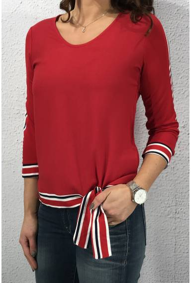 Matmix Shirt stripe patch Pure Red