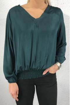 50235 V-Blouse Green