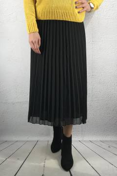 Edu Skirt pleated Black