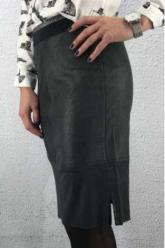 Skirt Maria PU skin Black