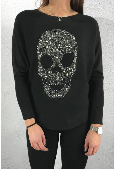 506 Sweater skull Black