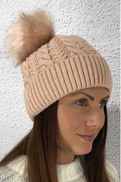 H 79118 Knitted Beanie Pink