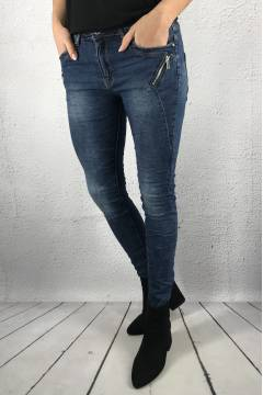 JW 5126 Jeans zip pocket denim