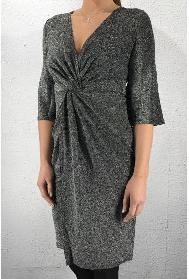 NL33417 Dress grey/metallic