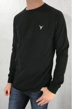 182023 Sweatshirt horn Black