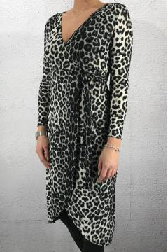 NL 33254 Tunika/Dress Leoprint Grey