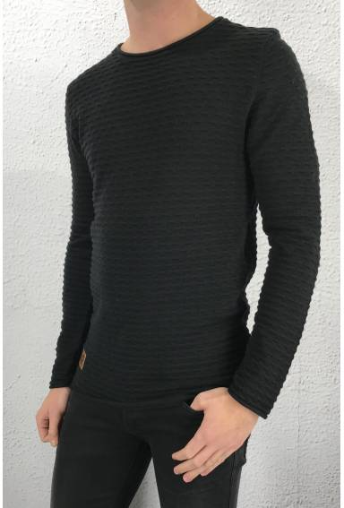 Isac sweater structured knit Black