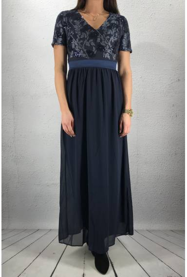 Galio Dress long Navy