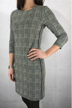 Dress Check Sidestripe Black/green
