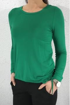 Top l/s drawstring Jolly green