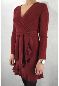 Erna Dress Berry/silver