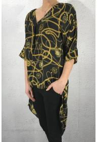 1891 Blouse chains Black/Mustard