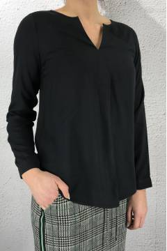 Blouse v-neck Neon Grey