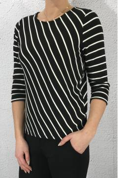 Sweater stripe diagonal Black/White