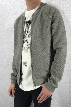 Lenny sweat zip Grey melange