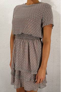 Nicoline Dress Rose/crem/mineral
