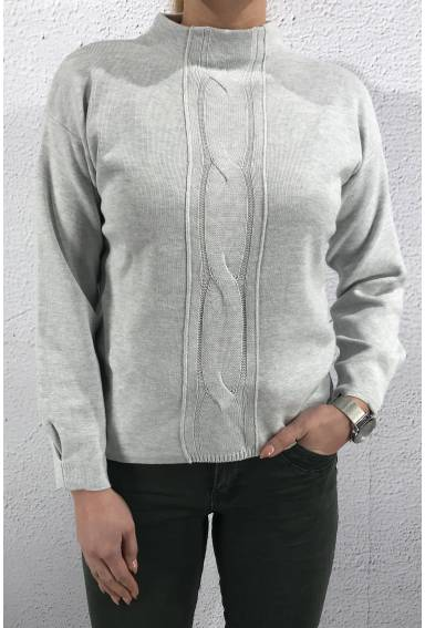 Pullover cable clubgrey