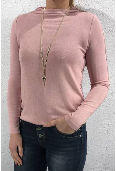 Sweater knit stripe Rose