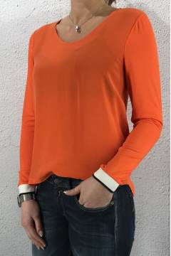 Shirt matmix v-neck Hot Orange