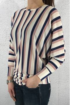 43026 Top Stripes blue /pink /off white