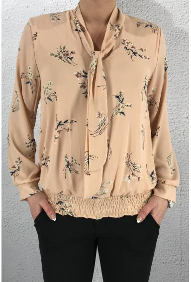 19107 Blouse Pink/Flower
