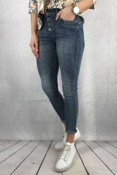 JW 612011 Jeans plain fly bottom Denim