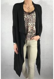 NL 4405 Knitted cardigan Black